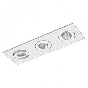 Luminária Retangular Embutir 8x24cm Direcional