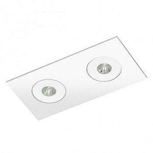 Luminária Retangular Embutir 8x16cm Direcional Micro Foco