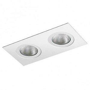 Luminária Retangular Embutir Foco Duplo Direcional 11x22cm E27