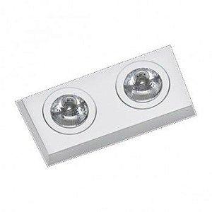 Luminária de Embutir Foco Direcional Duplo 12x23cm AR70