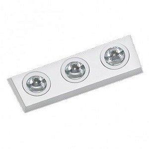 Luminária de Embutir  Foco Triplo Direcional 12x33cm AR70