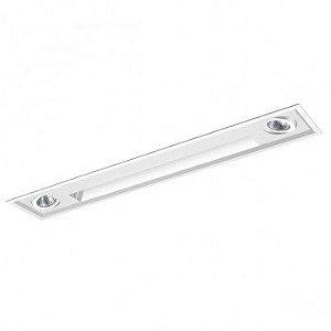 Luminária Embutir Wall Washer 15x84cm com Foco Direcional