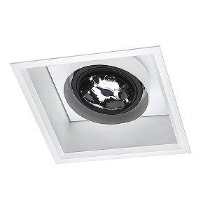 Spot Quadrada Embutir 23,5x23,5cm 5W 2700K AR111