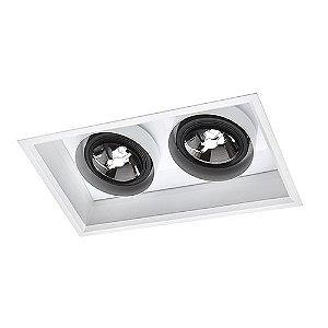 Luminária Retangular de Embutir 24x41cm 10W 2700K AR111