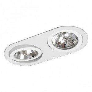 Luminária Oblonga Embutir Foco Duplo Direcional 16x31,5cm E27