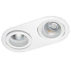 Luminária Embutir Antiofuscante Foco Duplo Recuado Direcional 16x31,5cm AR111