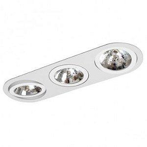 Luminária Embutir Foco Triplo Direcional 16x47,5cm AR111