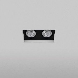 Spot Retangular Embutir 14,5x10,5cm 2xPAR20 50W