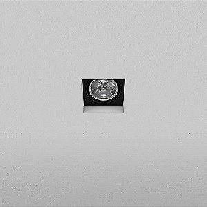 Spot Quadrado Embutido 10,5x10,5cm AR70 50W