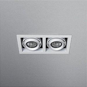 Spot Retangular Embutido 22x10,5cm 2xDicróica 50W