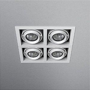 Spot Quadrado Embutido 20x20cm 4xDicróica 50W