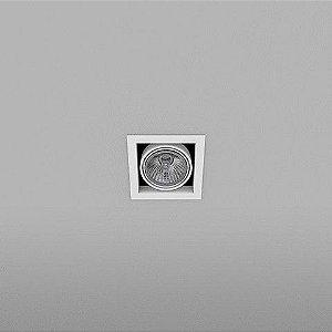 Spot Quadrado Embutido 11,5x11,5cm PAR20 50W