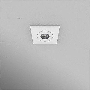 Spot Quadrado Embutido 5,5x5,5cm 3W 270lm 2700K
