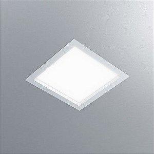 Luminária Quadrada Embutir 30x30cm LED 18W 1620lm 2700K