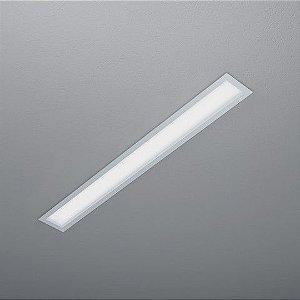 Luminária Retangular Embutir 127,5x15,5cm 2xT5/T8