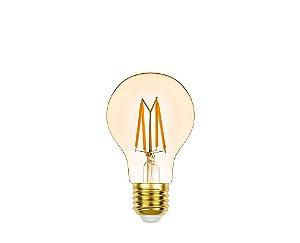 Lâmpada LED Bulbo Filamento Vintage 4,5W 350LM 2400K Dimerizável
