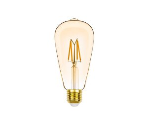 Lâmpada LED ST64 Filamento Vintage 4,5W 350LM 2400K Dimerizável