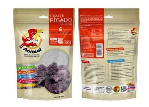 Petisco Natural Stick de Figado Bovino - PF Animal 100g
