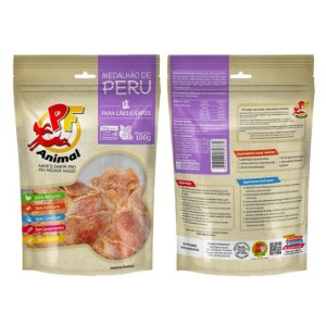 Petisco Natural Medalhão de Peru Desidratado - PF Animal 100gr