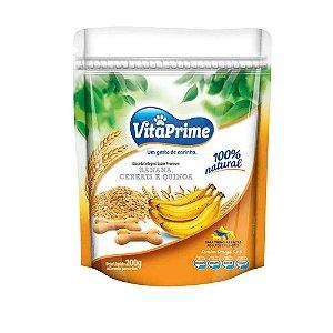 Biscoito Integral Banana, Cereais e Quinoa - VitaPrime 200g