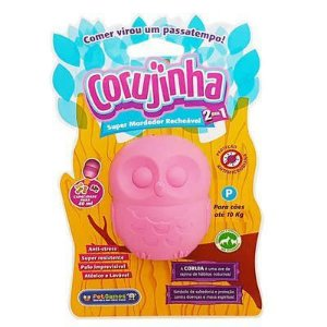 Corujinha Rosa - Brinquedo mordedor e recheável