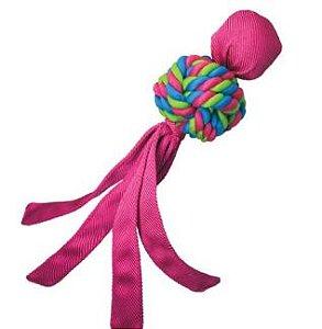 Brinquedo Kong Wubba Weave Rosa