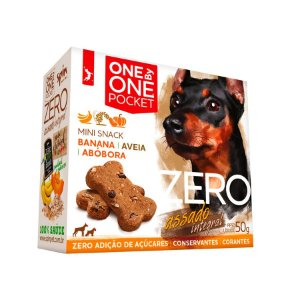 Petisco Mini Snack ZERO POCKET Spin Pet - 50g - Banana + Abobora + Aveia