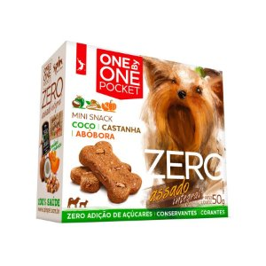 Petisco Mini Snack ZERO POCKET Spin Pet - 50g - Coco + Abobora + Castanha
