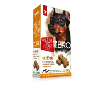 Petisco Mini Snack ZERO Spin Pet - Banana + Abobora + Aveia