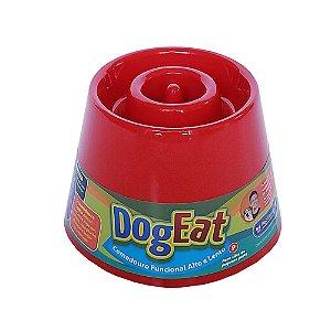 Comedouro funcional alto e lento - Dog Eat Vermelho