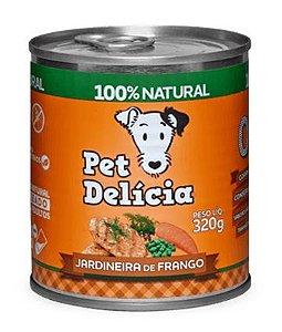 Alimentação Natural Jardineira de Frango 320g - Pet Delícia