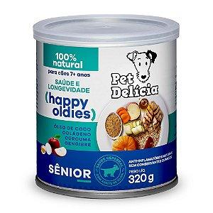 Alimentação Natural Sênior (mais 7 anos) - 320g Pet Delícia