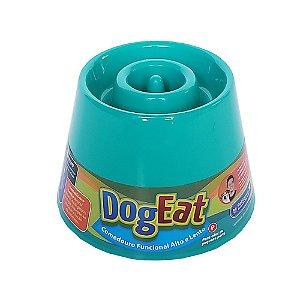 Comedouro funcional alto e lento - Dog Eat Verde-água