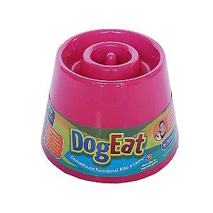 Comedouro funcional alto e lento - Dog Eat Rosa