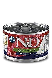 Alimento Úmido para Cães N&D Quinoa Controle de Peso - 140g