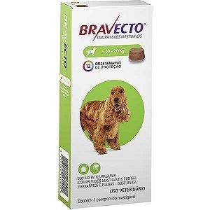 Bravecto Antipulgas Mastigável para Cães de 10 a 20 kg
