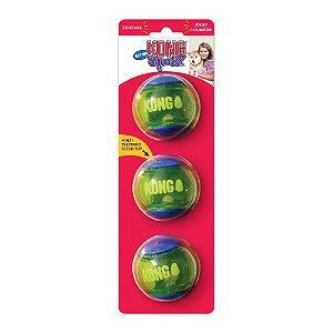 Brinquedo para cães Kong - 3un Bola Squeezz Action P