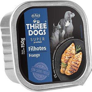 Patê Frango 150g - Three Dogs Cães Filhotes