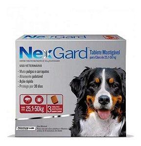 Nexgard Antipulgas e Carrapatos - 25,1kg a 50kg 3 Tabletes