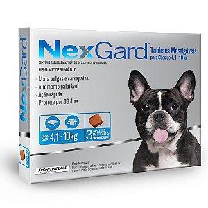 Nexgard Antipulgas e Carrapatos - 4,1kg a 10kg 3 Tabletes