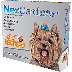 Nexgard Antipulgas e Carrapatos - 2kg a 4kg 3 Tabletes