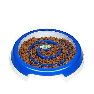 Comedouro Slow Food - Médio Azul Truqys