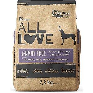 All Love - Ração Grain Free | Frango, Chia, Tapioca & Cúrcuma 7,2 kg