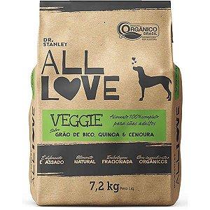 All Love - Ração Veggie   Grão de Bico, Quinoa & Cenoura 7,2 kg