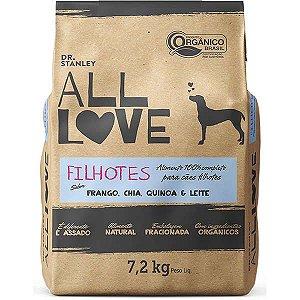 All Love - Ração Filhotes | Frango, Chia, Cenoura & Leite 7,2 kg