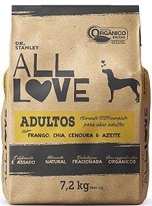 All Love - Ração Adultos   Frango, Chia, Cenoura & Azeite 7,2 kg