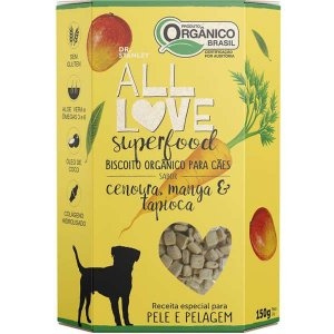 Biscoito All Love - Superfood | Cenoura, Manga & Tapioca 150g