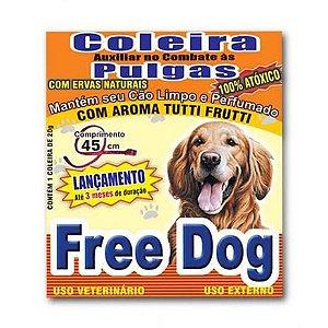 Coleira Free Dog Auxiliar Contra Pulgas - Cães Adultos 20g
