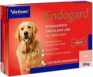Vermífugo Endogard - Cães até 30kg Virbac 6 Comprimidos