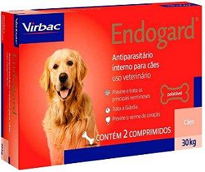 Vermífugo Endogard - Cães até 30kg Virbac 2 Comprimidos